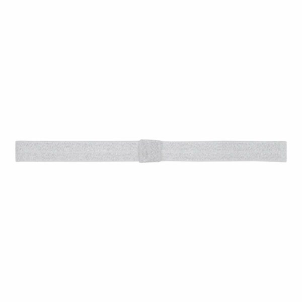 Oliviashitesilver | Elastik hårbånd til sløjfer - Hvid med sølv