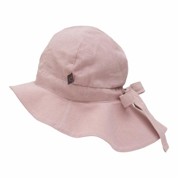 Summerhat Dusty Rose | Støvet rosa sommerhat til børn med sløjfe