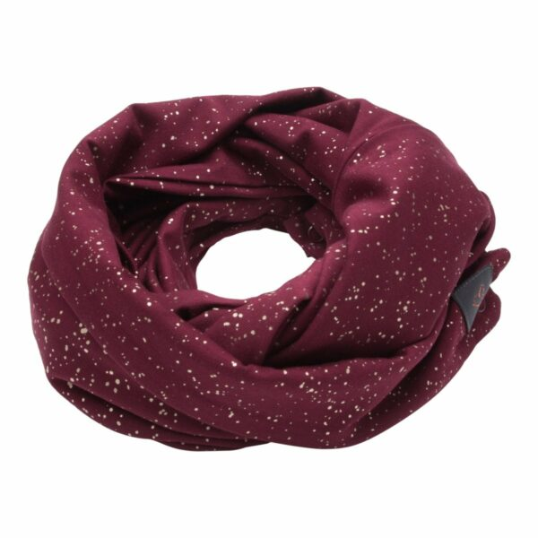 Tube Scarf bordeaux plain | AW19 Bordeaux tube tørklæde med glimmerprint til børn