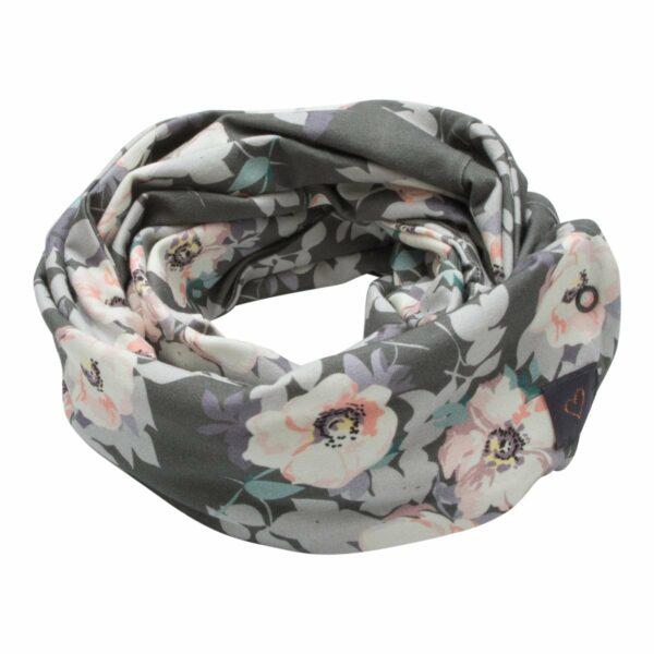Tube scarf grey flower | AW18 Grey Flower Tube tørklæde til børn