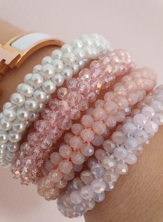 72886941 1482914818541932 916707554686402560 n | Krystal hvidt LW glitter perle armbånd