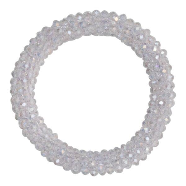 CR1 7522 1 | Krystal hvidt LW glitter perle armbånd
