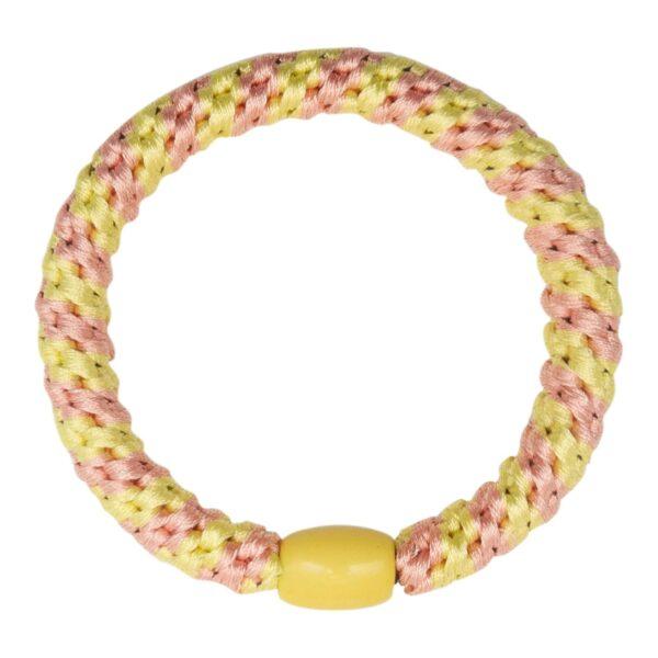 CR1 7587 Edit   Pastel gul og peach stribet LW hårelastik