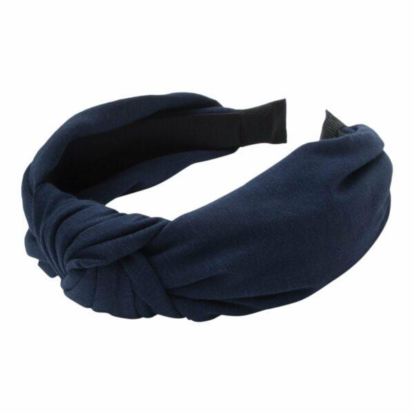 Navy jersey Headband | Bred hårbøjle med jersey stof i  navy blå