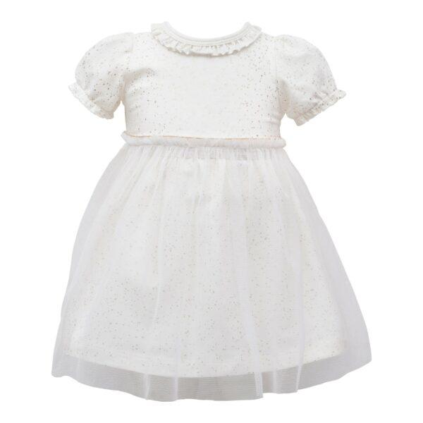 Off White Bridgit kortærmet kjole med tyl