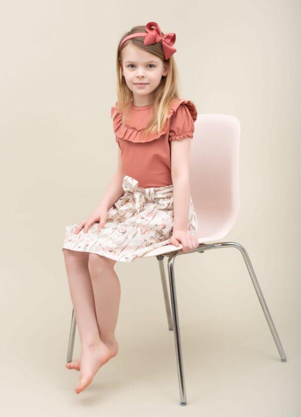 CR1 9254 Edit Edit scaled   SS20 Sommerfugle printet Blanca nederdel med sløjfe