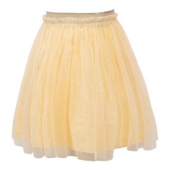 Pastel Gul Britney tyl nederdel med glitter