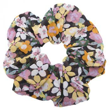 Multicolour blomstret scrunchie chiffon