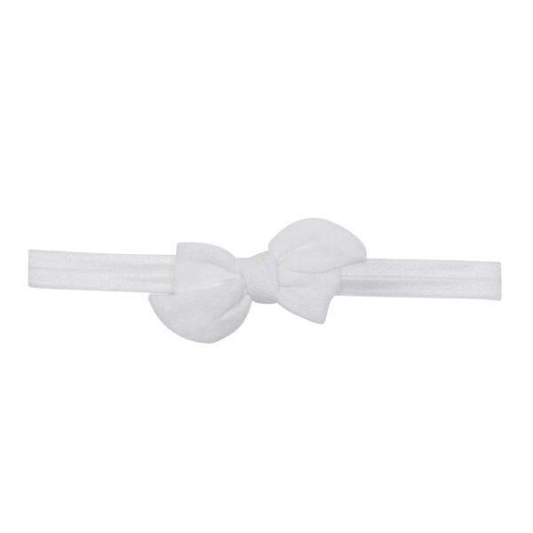 Elastik hårbånd med lille hvid Klara hør sløjfe