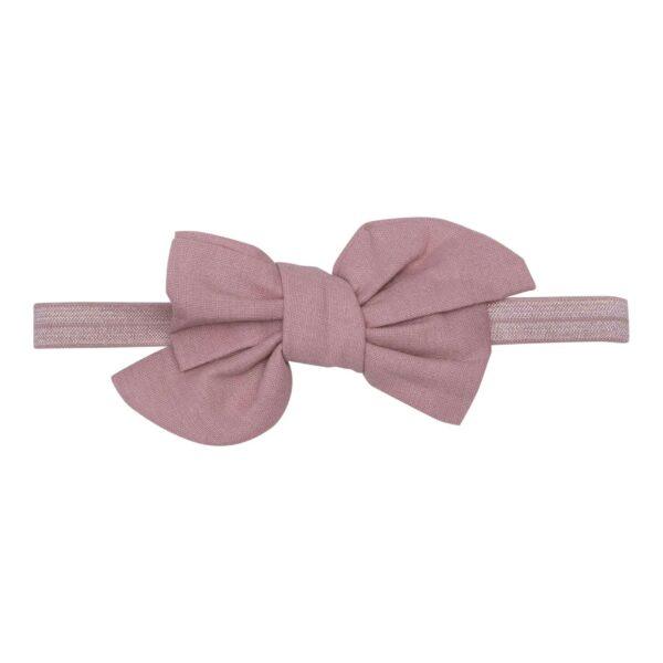 Elastik hårbånd med stor rosa Katie hør sløjfe